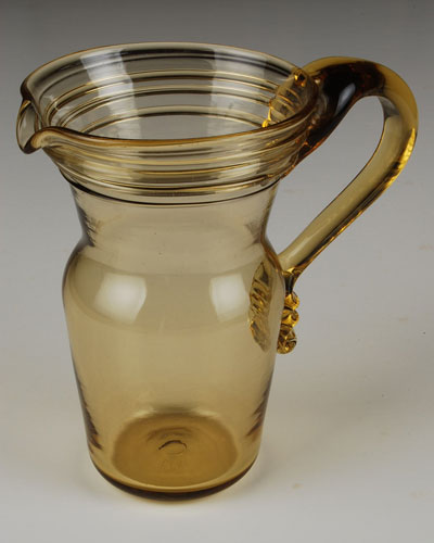Medium Amber Pitcher