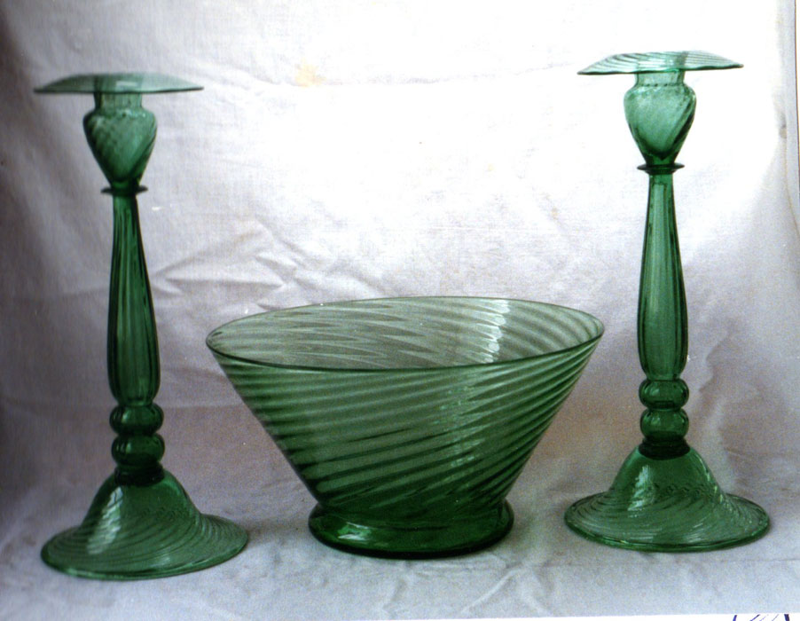 Bowl and candlesticks