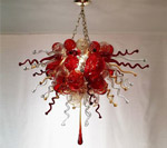 chandelier with chain mount