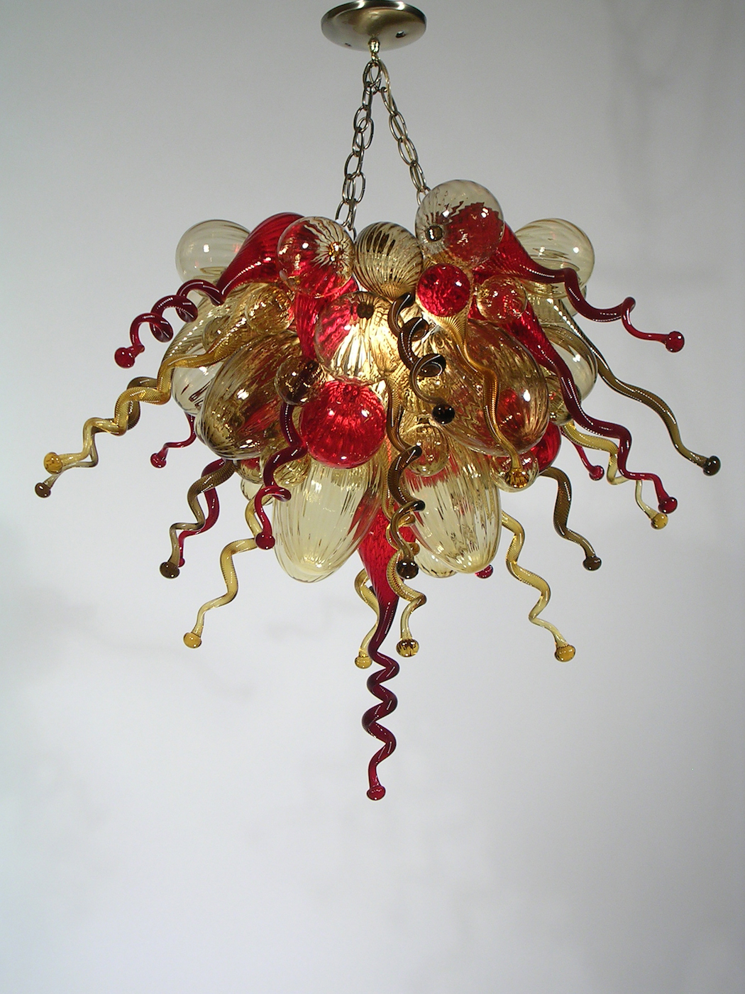 Red fern glass contemporary blown glass lighting by ed pennebaker 24in arubaitofo Image collections